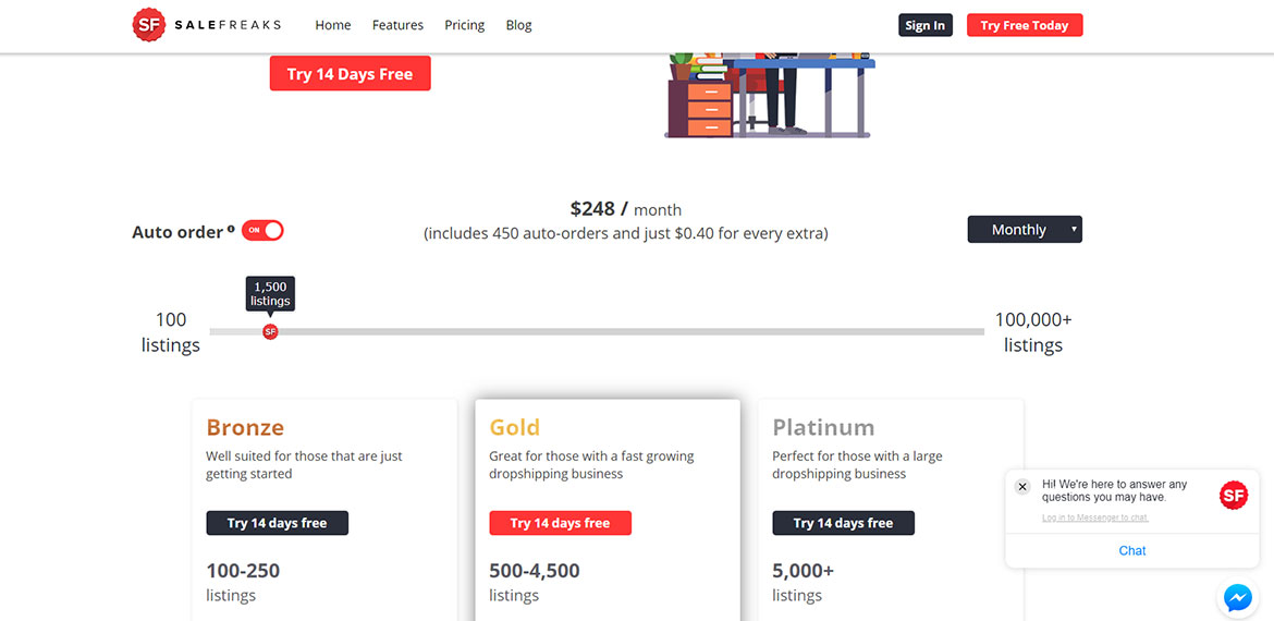 salefreaks-dropshipping-platform